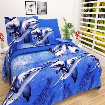 RIYA COLLECTION MICROFIBER DOUBLE BEDSHEET WITH TWO PILLOW COVER