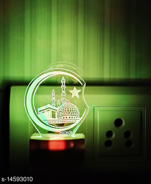 Mecca Madina Islam 3D LED Multi Colour Changing Night Lamp 7 colour LED plug and play night light Night Lamp Portable small Home Décor