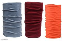 Adhvik Combo Of 3 Pcs Multicolor Multipurpose Free Size Sun Protection HeadWraps,hair Bandana Band For Boys And Girls