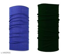 Adhvik Combo Of 2 Pcs Multicolor Multipurpose Free Size Sun Protection HeadWraps,hair Bandana Band For Boys And Girls