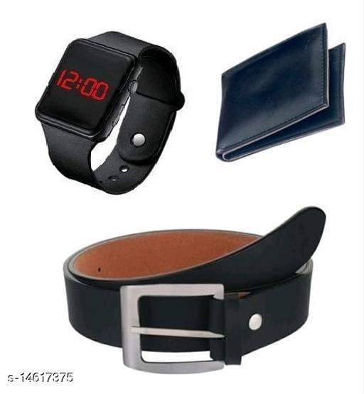 Classy New design Digital Watch,Belt And Wallet Combo