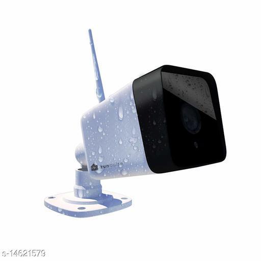 zunpulse Weatherproof WiFi Smart Camera 720P 128GB with Two-Way Communication and Night Vision…