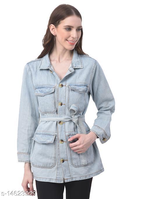 Women Blue Long Utility Shirt