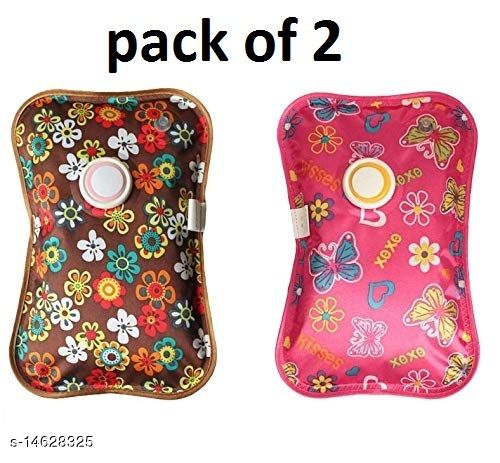 Pack of 2 Electric Hot Gel Bag/Pouch- Rechargeable Heating Pad/Pouch for Muscle Pain Relief (Multicolor)