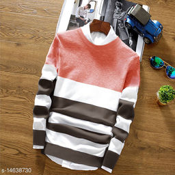 Men's Regular Fit Front Open T-shirt