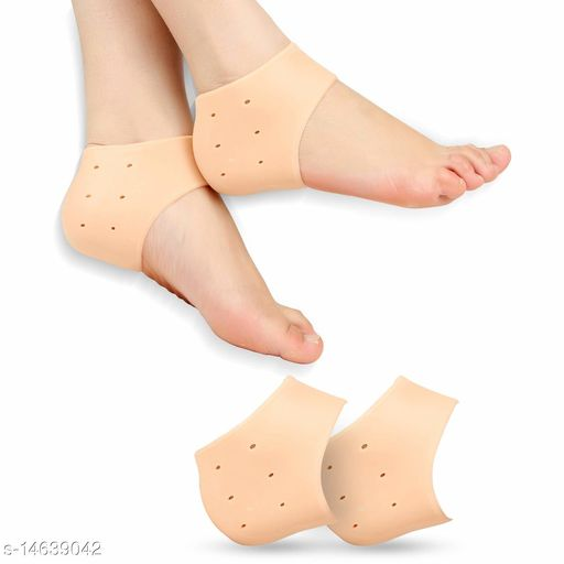 INFO_TECH Silicone Gel Heel Pad Socks for Pain Relief - 1 Pair
