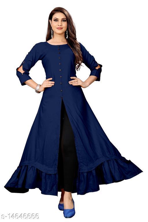 heena stylish fency women rayon trendy kurtis