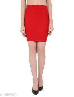 ND & R Women's Stretchable Pencil Midi Skirt