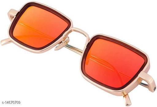 Stylish Kabir Singh Sunglasses (Silver-Orange)