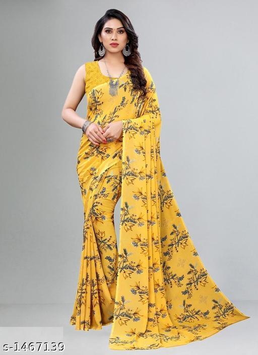 Stylish Georgette Printed Saree