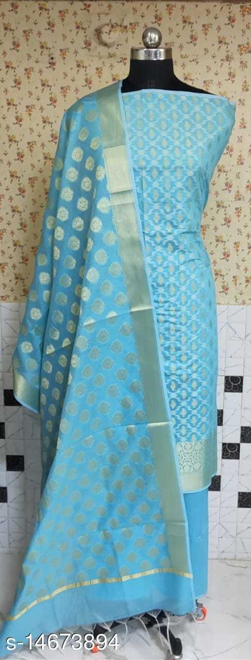 Banarsi Cotton Suit (5Aqua Blue)