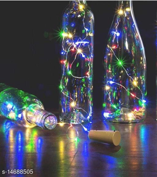20 LED Bottle Cork Light Multi colour (Pack of 3)