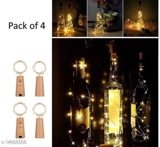 20 Led Bottle Cork Light Warm White Colour (Pack of 4 )