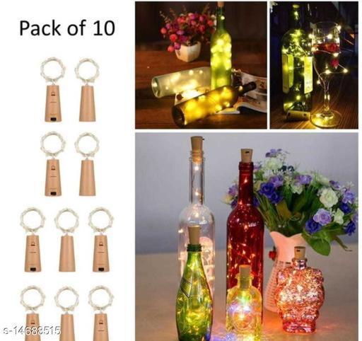 20 Led Bottle Cork Light Warm White Colour (Pack of 10 )