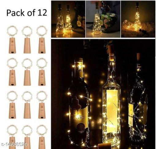 20 Led Bottle Cork Light Warm White Colour (Pack of 12 )