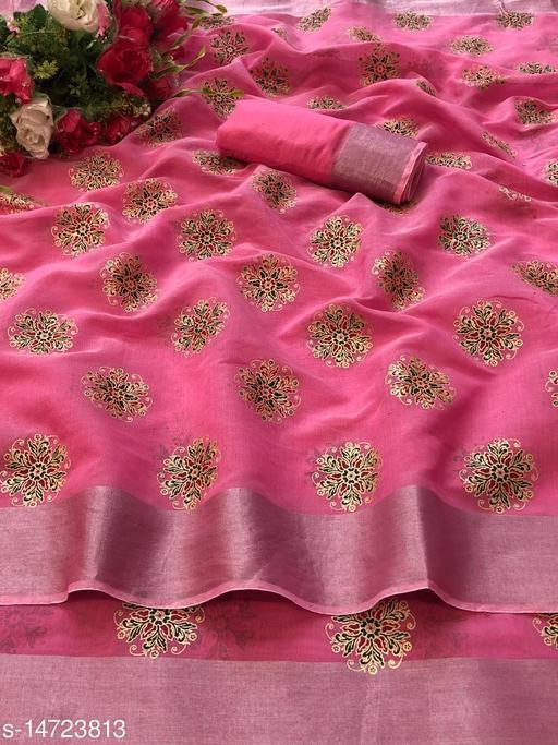 Women Chanderi cotton Designer Saree