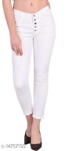 DaylForaWomen High, Waist Slim Fit, Stratchable Jeans (White)