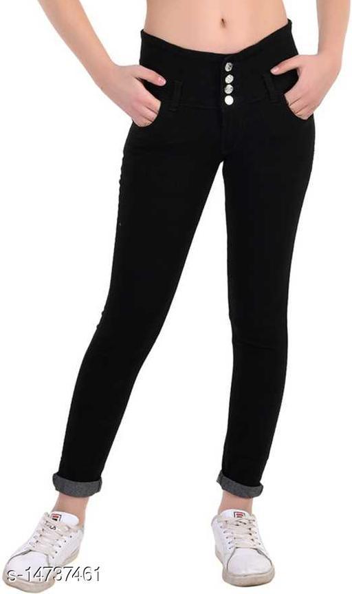 DaylForaWomen High, Waist Slim Fit, Stratchable Jeans (Black)