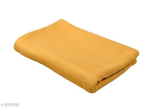 YSJ Creation Presents Single Plain Fleece Polar Blanket -1000gm , Size- 60 inch  X 90 inch (Set of 1 PCs)