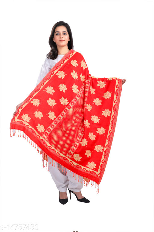 Devi Collection PolyWool Embroidered Shawls For Womens And Girls