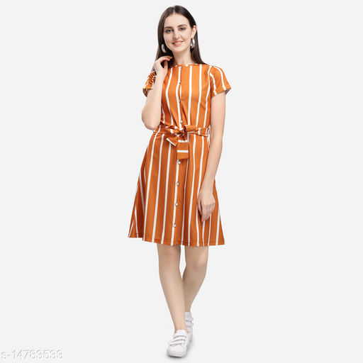 Women's Polyester Printed Dress