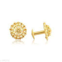Fancy Trendy Gold Plated Earring