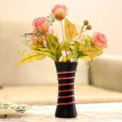 1st TimeHand Decorative Table Top, Room Corner, Showcase Glass Flower Pot Vase Colorful, Gift-able -K9