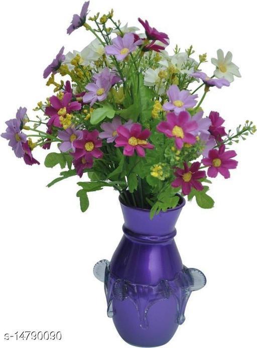 1st TimeDesigner Hand Decorative Glass Table Top Flower Pot Vase In New Shape Art -H6