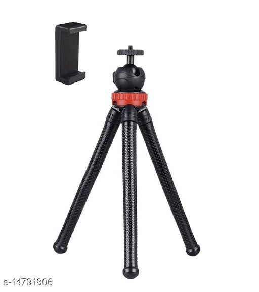 """Giffy® Octopus Tripod 12"""" Inch Flexible Foldable Waterproof Extra Thick & Strong with Mobile Holder for All Smartphone, Action & DSLR Camera's Use of Photography, Video Recording Vloging YouTube (Supports upto 1.5 KG)"""