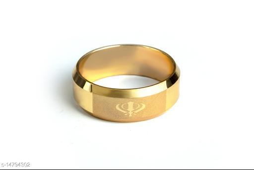 Stylish Men's Golden Finger Rings