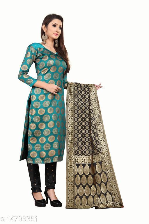 Kashvi Jacquard Silk Unstitched Dress Material with Dupatta