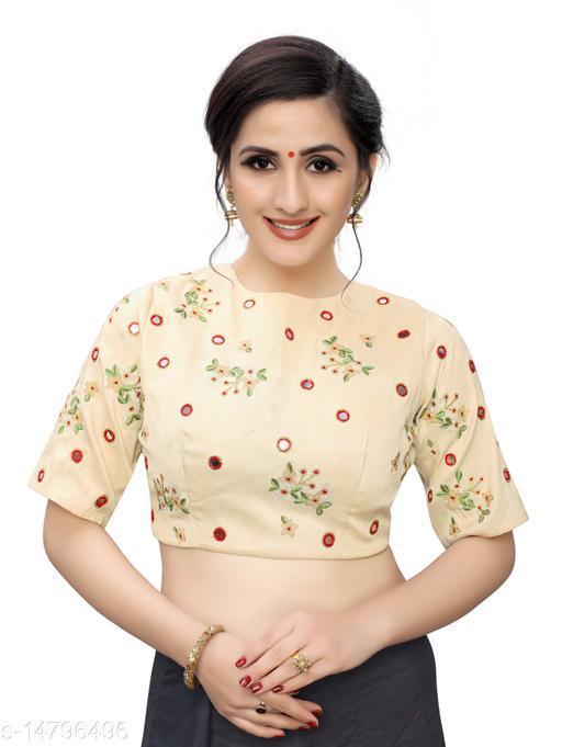 Aarrah Cream Color Raw Silk Blouse