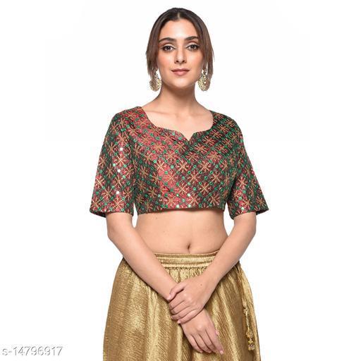 Aarrah Red Color Raw Silk Blouse