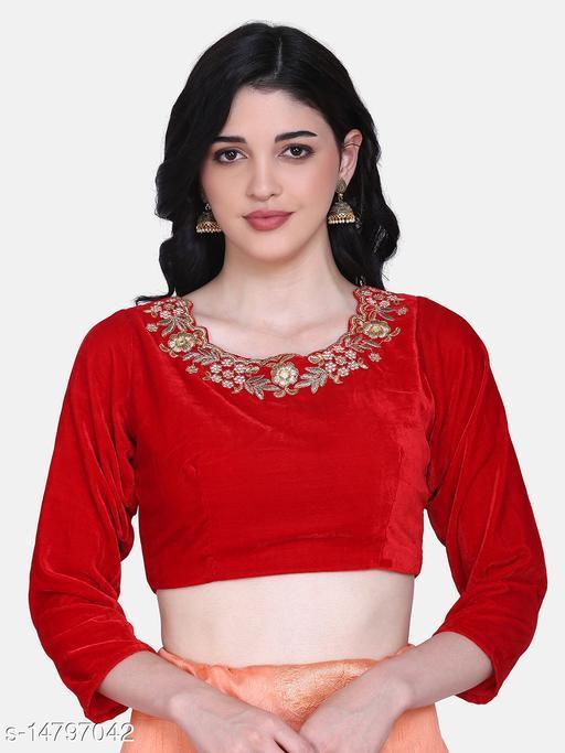 Aarrah Red Color Velvet Blouse