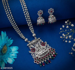 Enchante Charming Alloy Embellished Silver Plated Jewellery Set