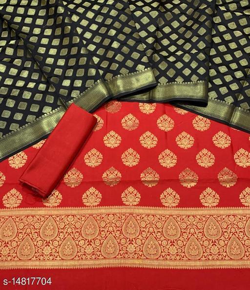 Banarsi Silk Suit (24Red)