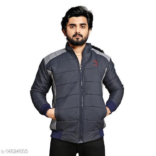 Men's Quilted Jacket Coat Color Block Zipper Hooded Fur Padded Coat Slim Fits Thicken Outwear Jacket