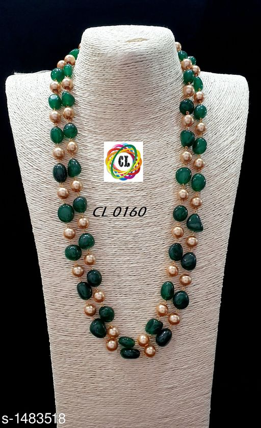 Beautiful Stone & Pearl Necklace