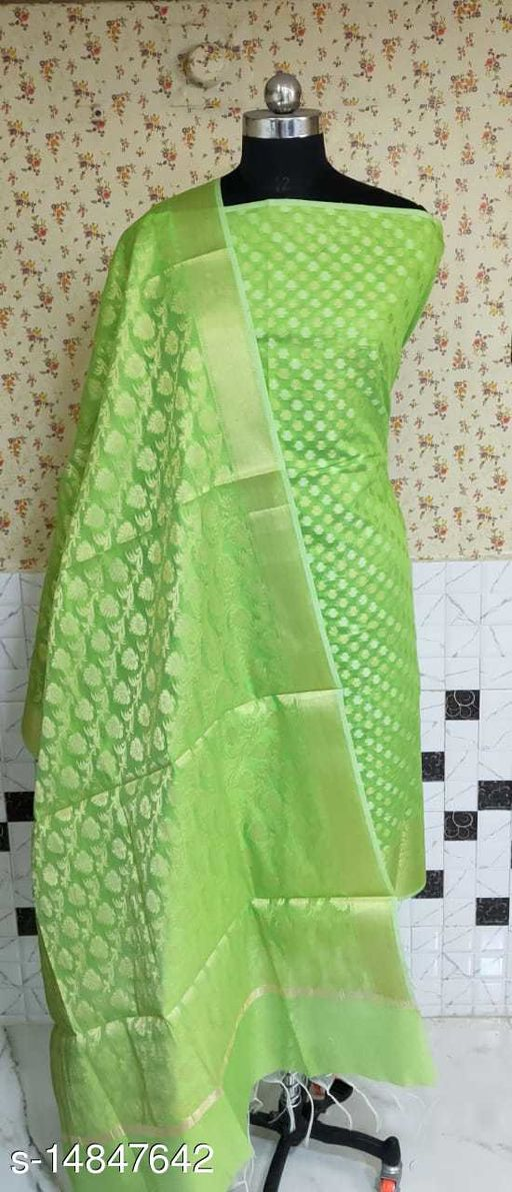 Banarsi Cotton Suit (6Mint Green)
