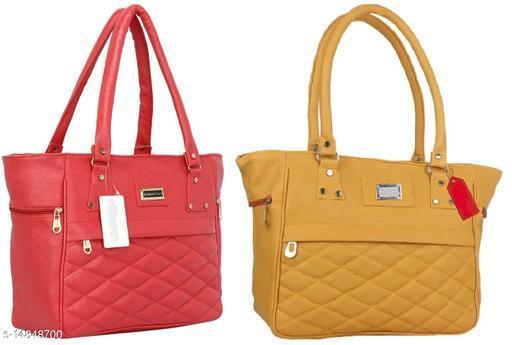 Beautiful Women's Combo Multicolor Leather Handbag