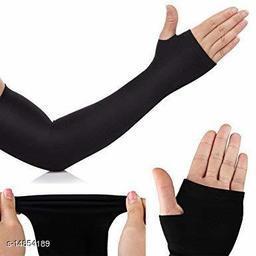 Nylon gloves Arm sleeves gloves bike riding black color