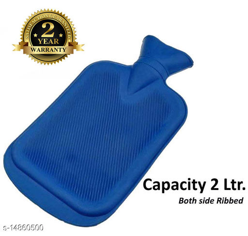 Inispire2Fashion Mycure Hot Water Bottle for Pain Relief Hot Water Bag with 2 ltr capicity (blue)