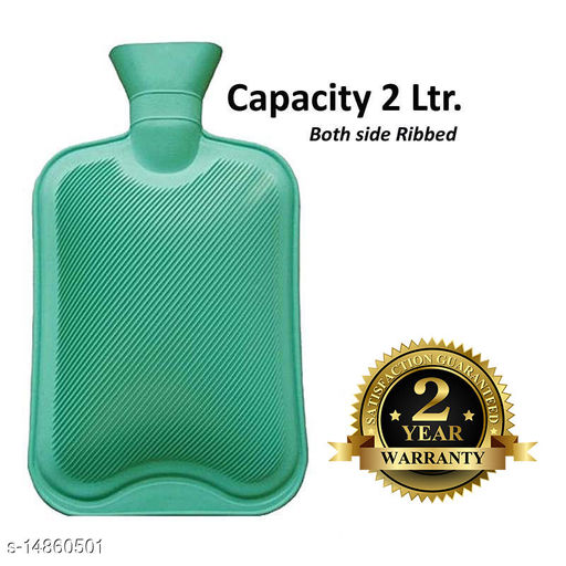 Inispire2Fashion Mycure Hot Water Bottle for Pain Relief Hot Water Bag with 2 ltr capicity (green)