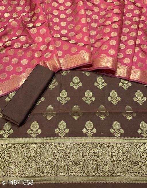 Banarsi Silk Suit (23Brown)