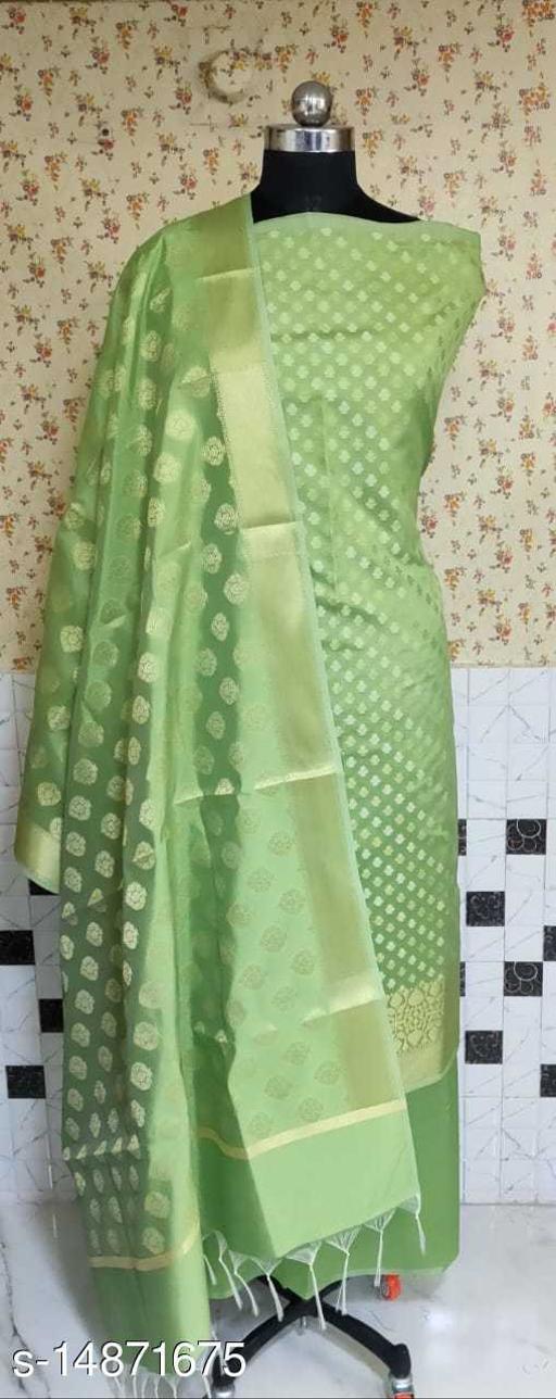 Banarsi Silk Suit (11Mint Green)