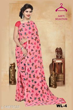 BUTTER FLY COLOUR GEORGETTE SAREES