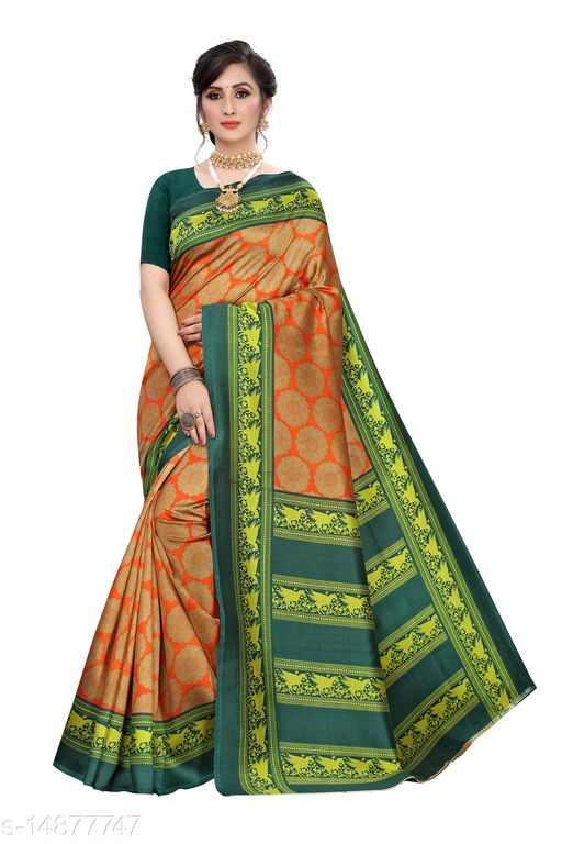 Trendy  Art Silk Women's Printed Work Saree