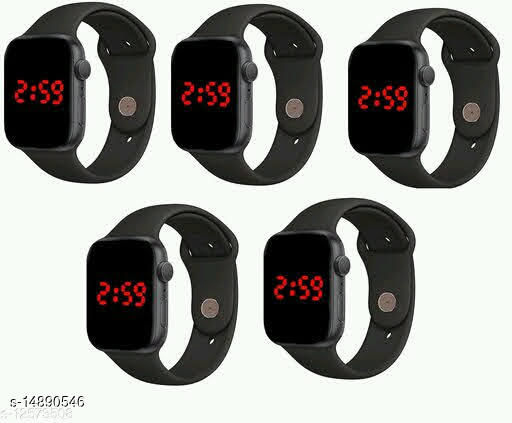 latest trendy 2021 black sport look digital watches fomily pack-birthday gifts watches for age group 8 to 27 years children-kids-men & boys