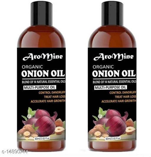 Natural & Organic  Onion Oil For Hair Growth, Dandruff-60ml
