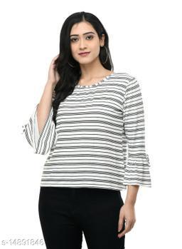 SAAKAA Women's Hosiery White Regular Top
